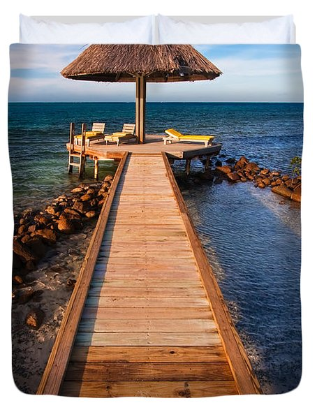 Perfect Vacation Duvet Cover by Adam Romanowicz