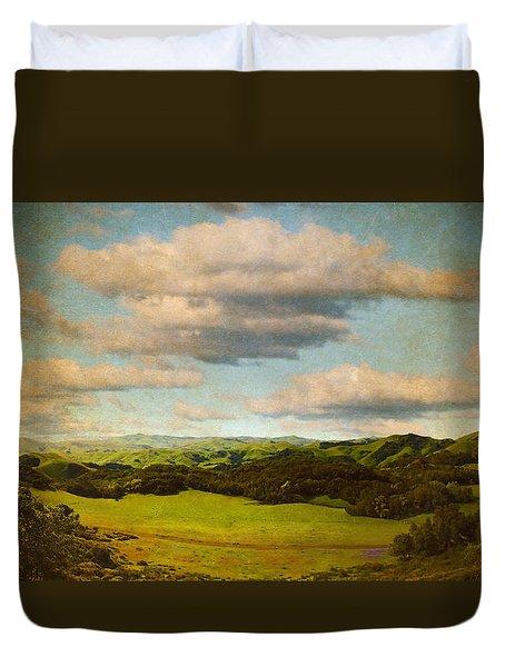 Perfect Valley Duvet Cover by Brett Pfister