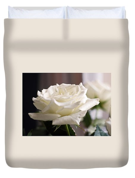 Perfect White Rose Duvet Cover