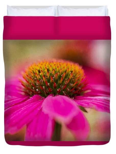 Duvet Cover featuring the photograph Perfectly Pink. by Clare Bambers