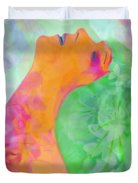 Perfume Of Love Duvet Cover by Martina  Rathgens
