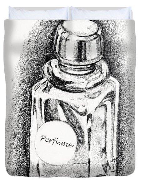 Perfume Bottle Duvet Cover by Vizual Studio