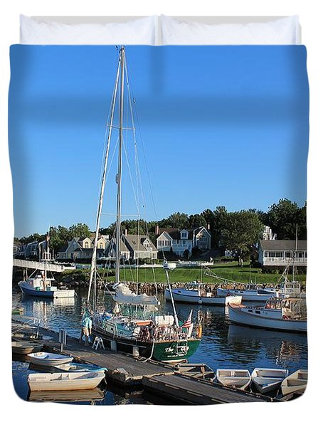 Perkins Cove Ogunquit Maine 2 Duvet Cover