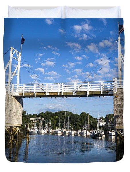 Perkins Cove - Maine Duvet Cover