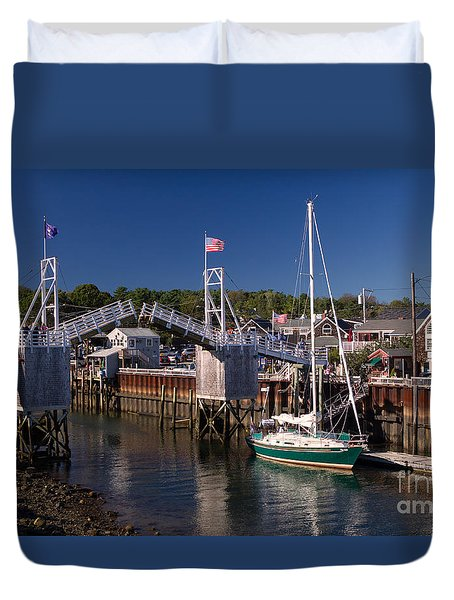 Perkins Cove Ogunquit Maine Duvet Cover