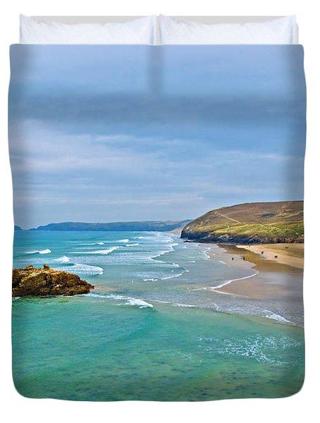 Perranporth Beach Duvet Cover