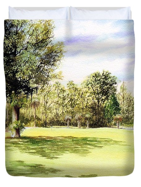Perry Golf Course Florida  Duvet Cover by Bill Holkham