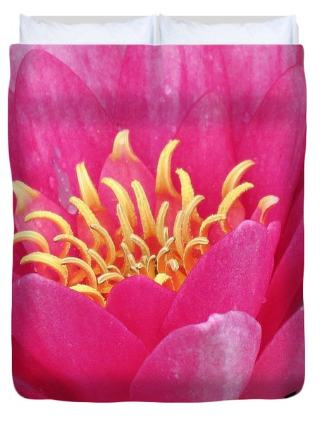 Perry's Fire Opal Water Lily Duvet Cover