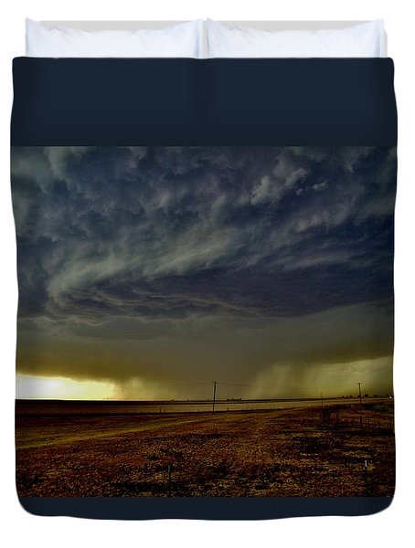 Perryton Supercell Duvet Cover by Ed Sweeney