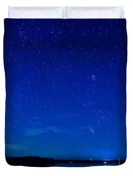 Perseid Meteor Duvet Cover