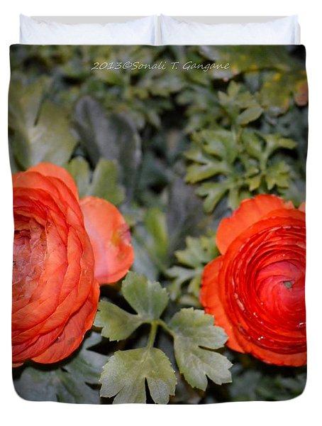 Persian Buttercups Duvet Cover by Sonali Gangane