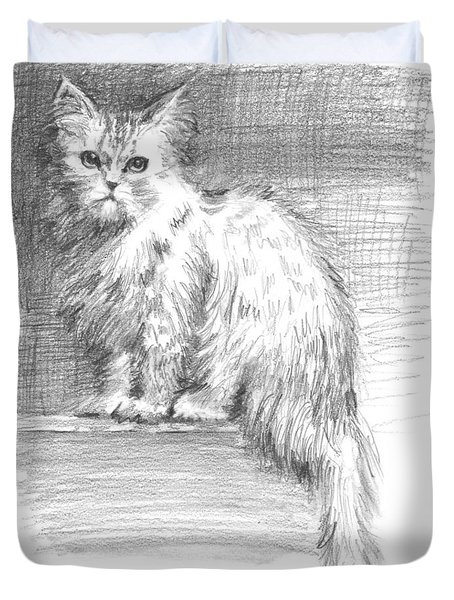 Persian Cat Duvet Cover by Sarah Parks