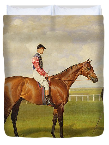 Persimmon Winner Of The 1896 Derby Duvet Cover by Emil Adam