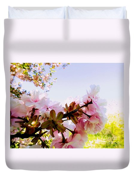 Petals In The Wind Duvet Cover by Robyn King