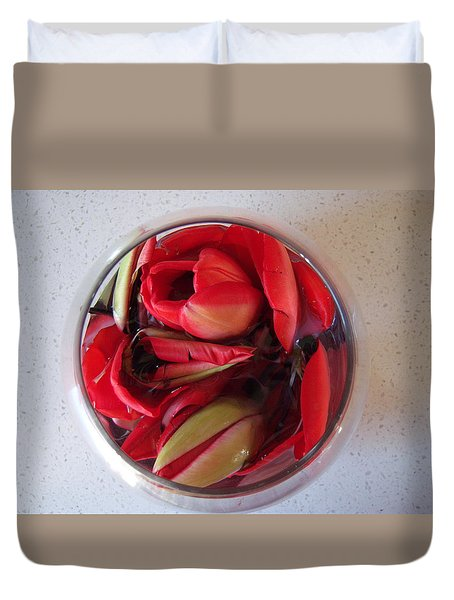 Petals In Vase  Duvet Cover