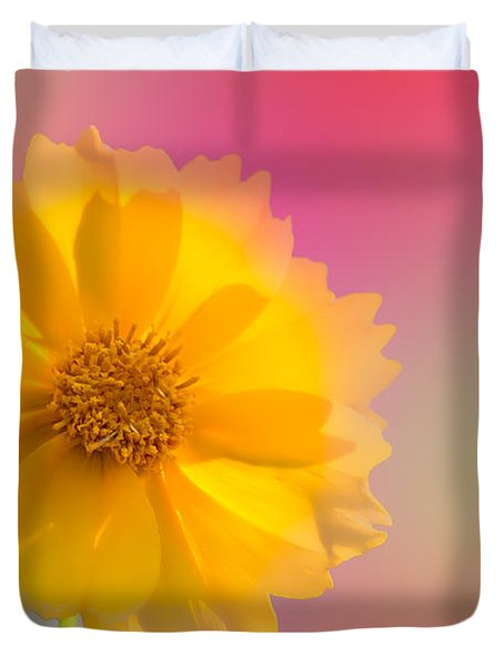 Petals Of Sunshine Duvet Cover by Fred Larson