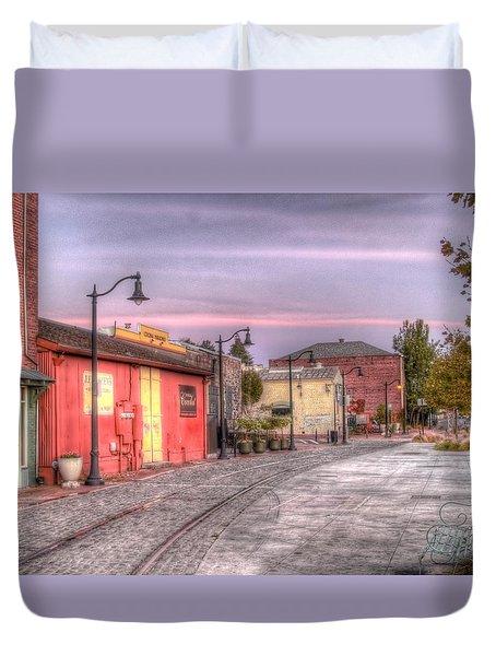 Petaluma Morning Duvet Cover by Bill Gallagher