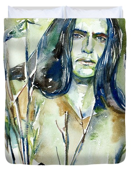 Peter Steele Portrait.1 Duvet Cover by Fabrizio Cassetta