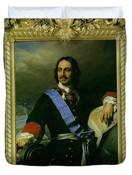 Peter The Great Of Russia Duvet Cover by Paul  Delaroche