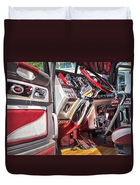 Peterbilt Interior Duvet Cover by Theresa Tahara