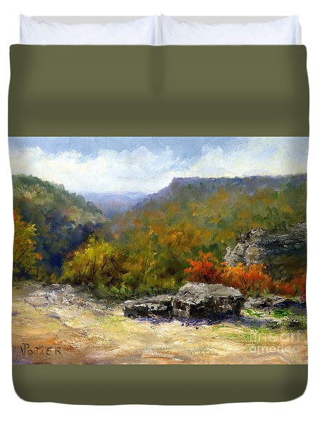 Petit Jean View From Mather Lodge Duvet Cover