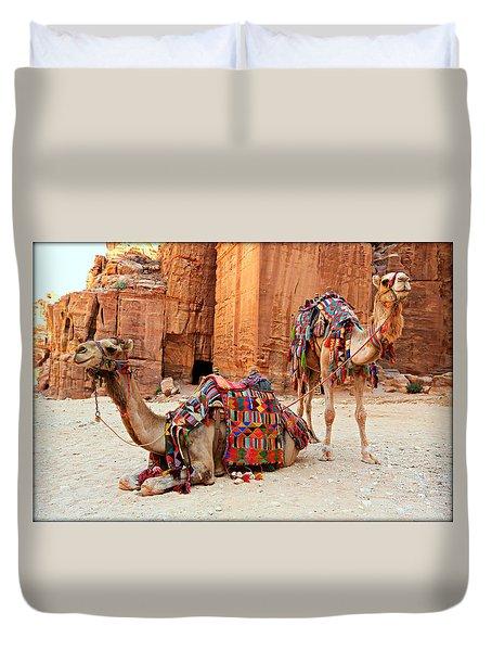 Petra Camels Duvet Cover