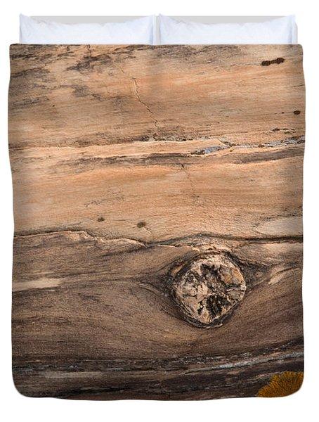 Petrified Wood Detail Duvet Cover by Vivian Christopher