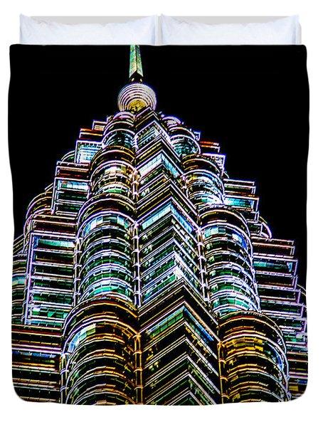 Petronas Tower Duvet Cover by Adrian Evans