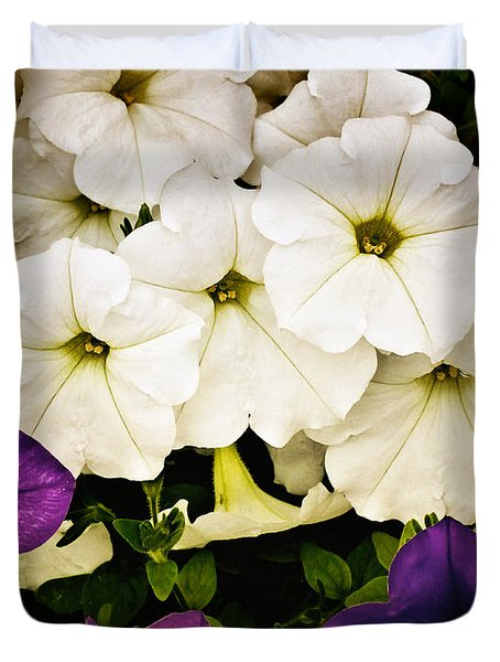 Petunias Duvet Cover by Susan Kinney