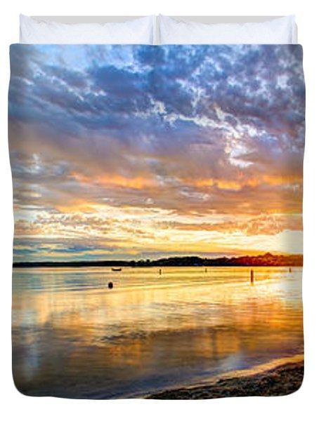 Pewaukee Vibrant Evening  Duvet Cover