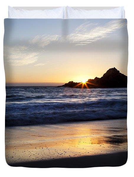 Pfeiffer Beach Sunset Duvet Cover by Jenna Szerlag