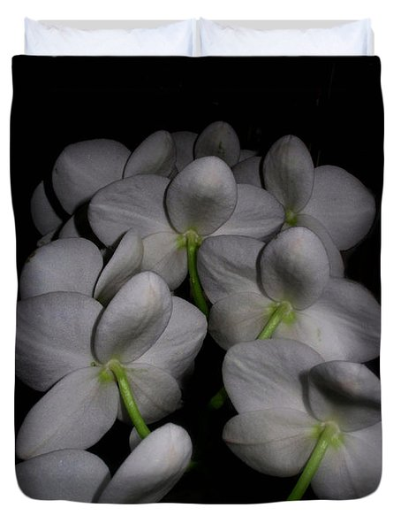 Phalaenopsis Backs Duvet Cover by Joyce Dickens