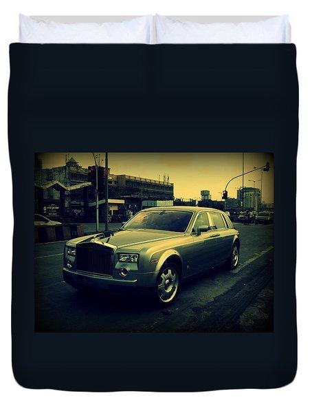 Duvet Cover featuring the photograph Rolls Royce Phantom by Salman Ravish