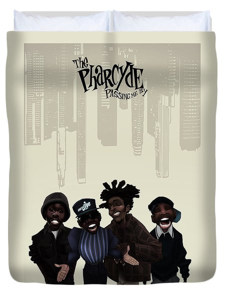 Pharcyde -passing Me By 1 Duvet Cover by Nelson dedos Garcia