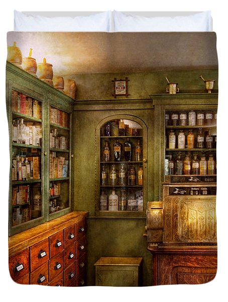 Pharmacy - Room - The Dispensary Duvet Cover by Mike Savad