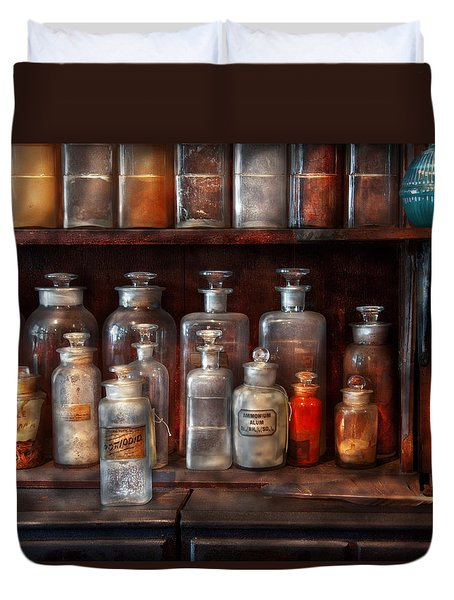 Pharmacy - The Chemistry Set Duvet Cover by Mike Savad