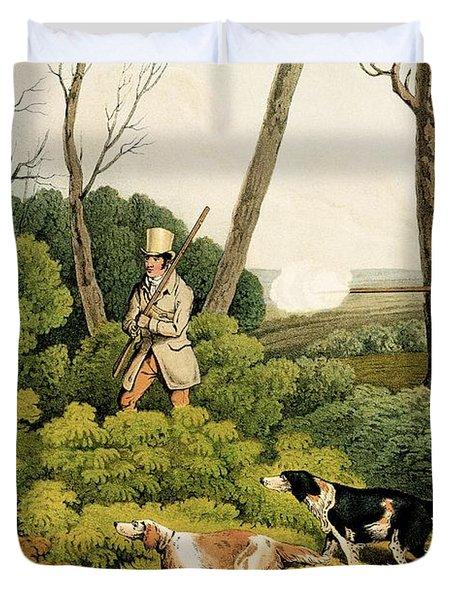 Pheasant Shootin Duvet Cover by Henry Thomas Alken