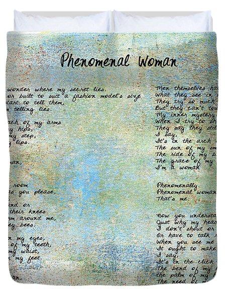 Phenomenal Woman - Blue Rustic Duvet Cover
