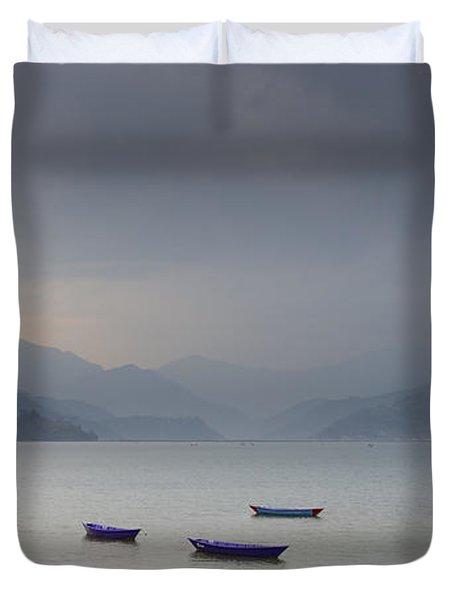 Phewa Lake In Pokhara Duvet Cover