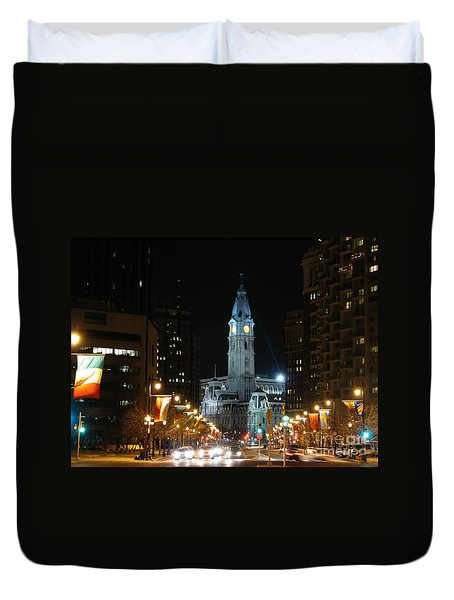 Philadelphia City Hall Duvet Cover