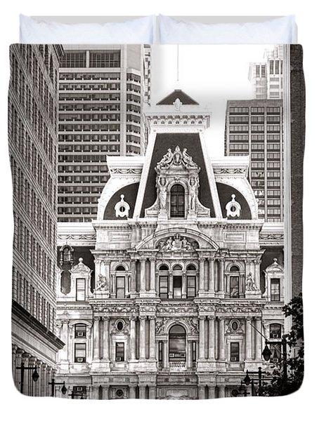 Philadelphia City Hall Duvet Cover