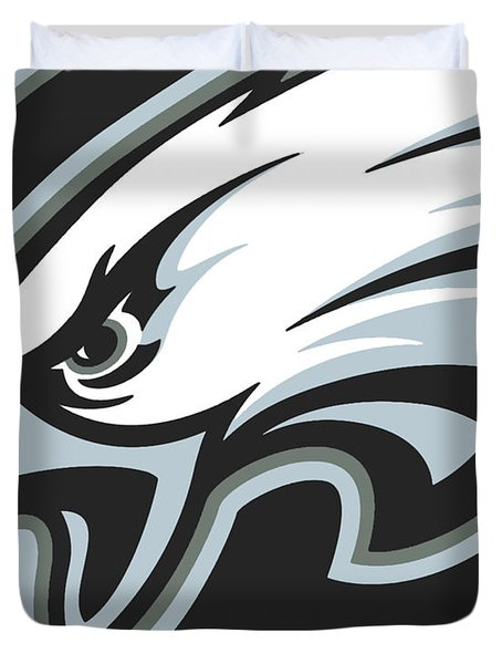 Philadelphia Eagles Football Duvet Cover by Tony Rubino