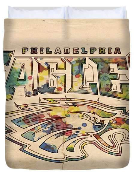 Philadelphia Eagles Poster Art Duvet Cover
