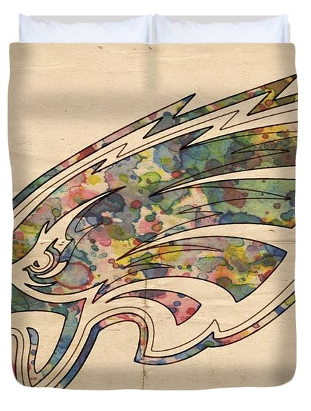 Philadelphia Eagles Poster Vintage Duvet Cover