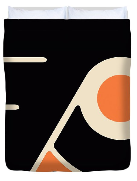 Philadelphia Flyers Duvet Cover by Tony Rubino