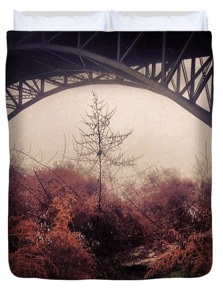 Philadelphia Foggy Day Duvet Cover
