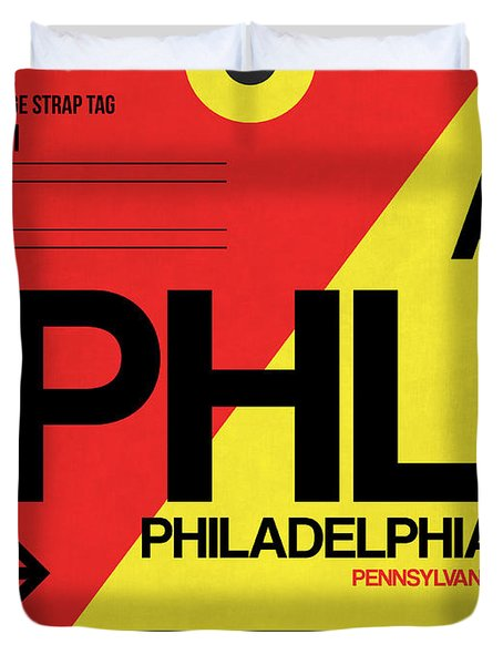 Philadelphia Luggage Poster 2 Duvet Cover by Naxart Studio