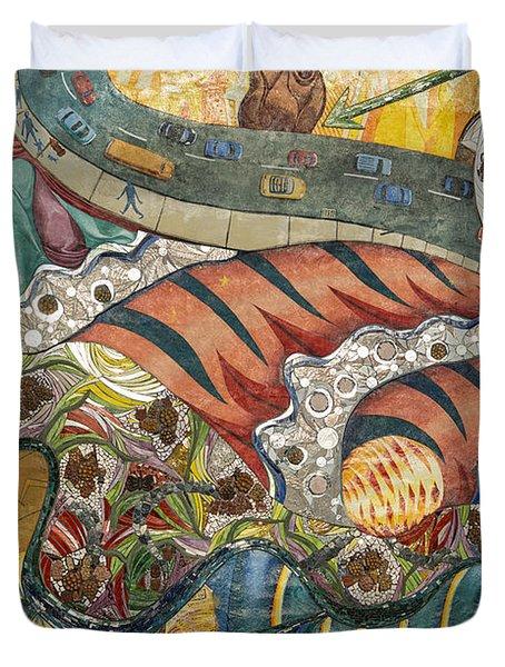 Philadelphia Mural Duvet Cover by John Greim
