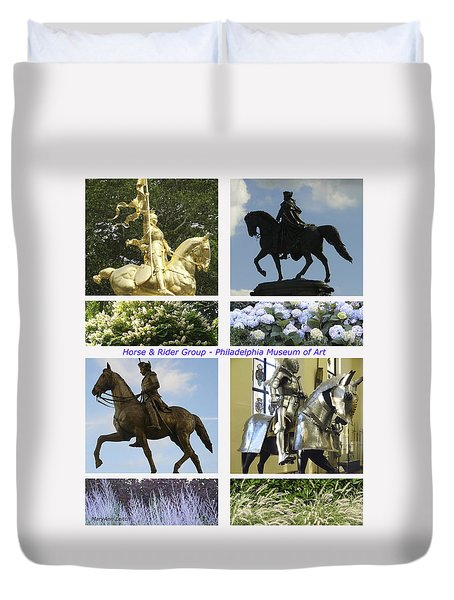 Duvet Cover featuring the photograph Philadelphia Museum Of Art by Mary Ann Leitch