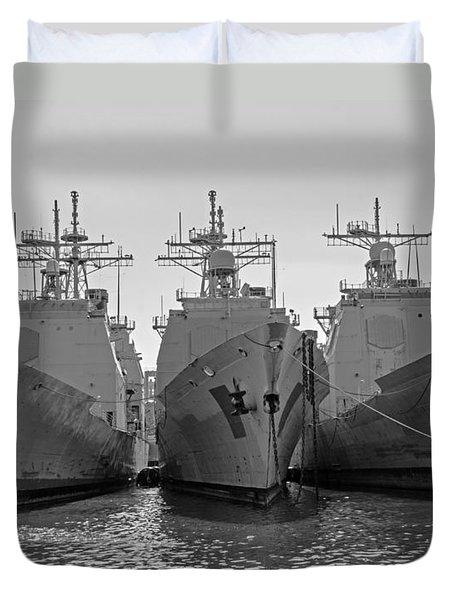 Philadelphia Navy Yard B - W  Duvet Cover